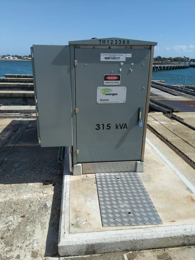 Transformer high voltage installation